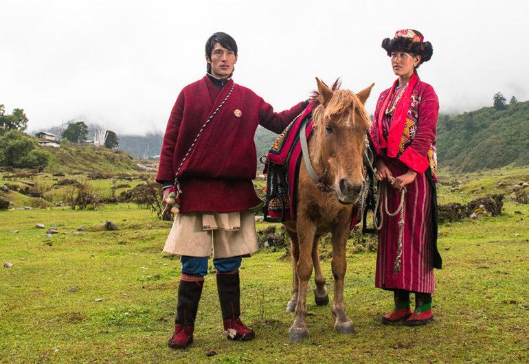 Merak and sakteng, bhutan