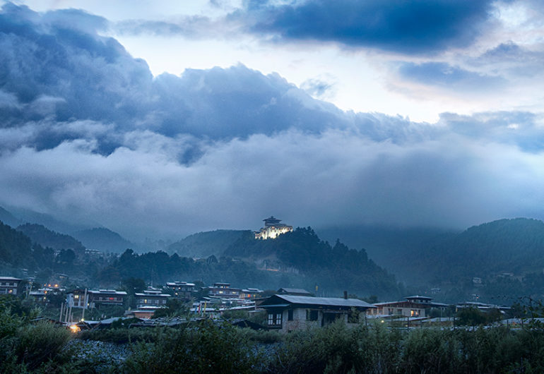 jakar dzong, bhumthang, bhutan